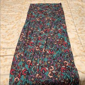 Lularoe multi colored paisley maxi skirt